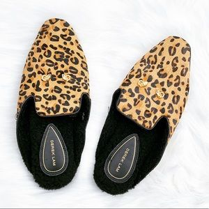 955577674cfd Derek Lam Shoes - Derek Lam Pony Hair Cheetah Print Slippers Sz 7/8
